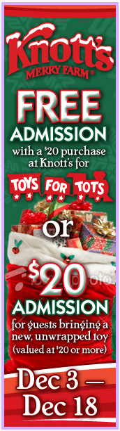 Montebello Mom Knotts Berry Farm Toys For Tots Promotion