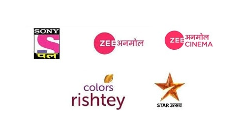 Star Utsav, Zee Anmol, Colors Rishtey, Sony PAL, and Zee Anmol Cinema on DD Free dish