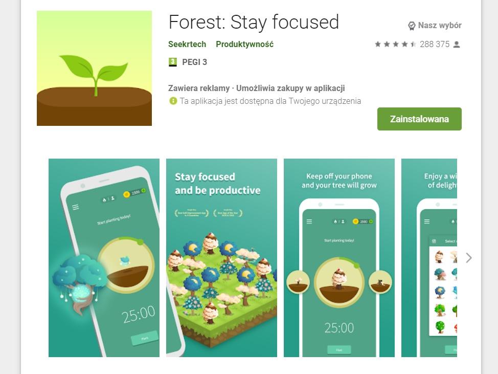 Forest - aplikacja do skupiania się