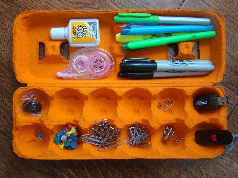12 ideas para organizar cajones con hueveras de cartón