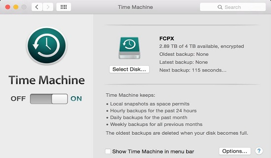 Use Time Machine on MacOS