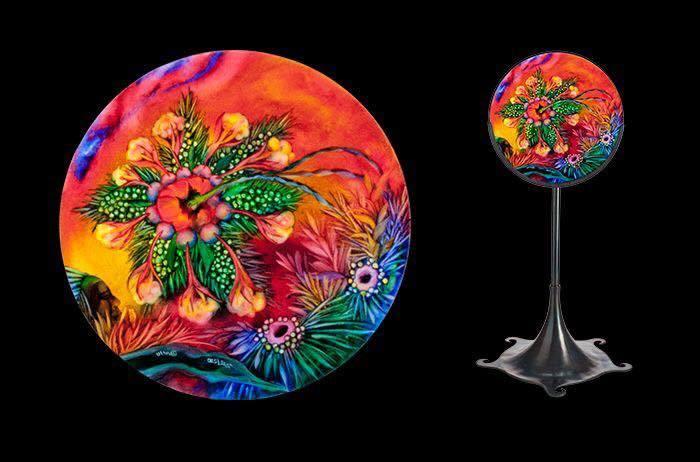 lampy malowane na szkle