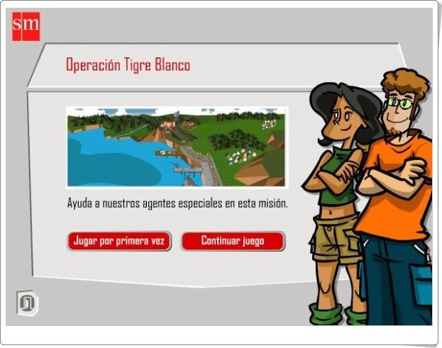 """""""Operación Tigre Blanco"""" (Aventuras interactivas de Conocimiento del Medio de 6º de Primaria)"""