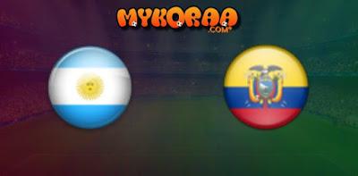 بث مباشر وحصري للمباراة الودية بين منتخبين الإكوادور و الارجنتين 13/10/2019