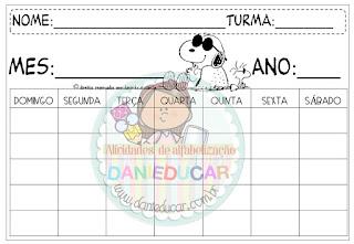 calendários, Medidas do tempo, Sistema de numeração, Atividades de Matemática,