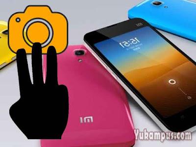 cara screenshoot xiaomi dengan tiga jari
