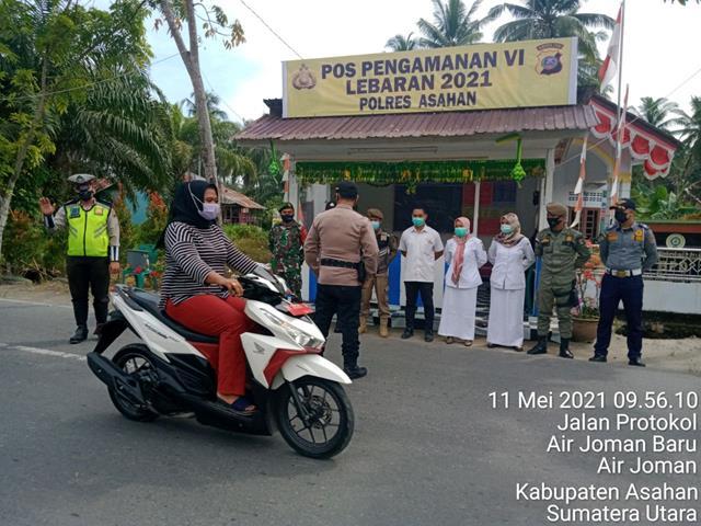 Stop Mudik, Personel Jajaran Kodim 0208/Asahan Bersama Dinas Terkait Laksanakan Penyekatan Batas Wilayah