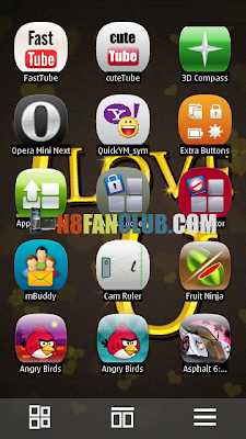 QT Shell 2.0.2 - ENGLISH - Nokia N9 Swipe Menu Replacement for Nokia N8