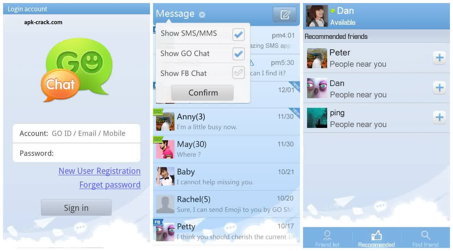 go sms pro ad free apk