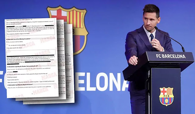 Complained to stop PSG's contract with Messi