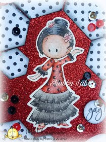 Project using sevillana dancer from kindacutebypatricia