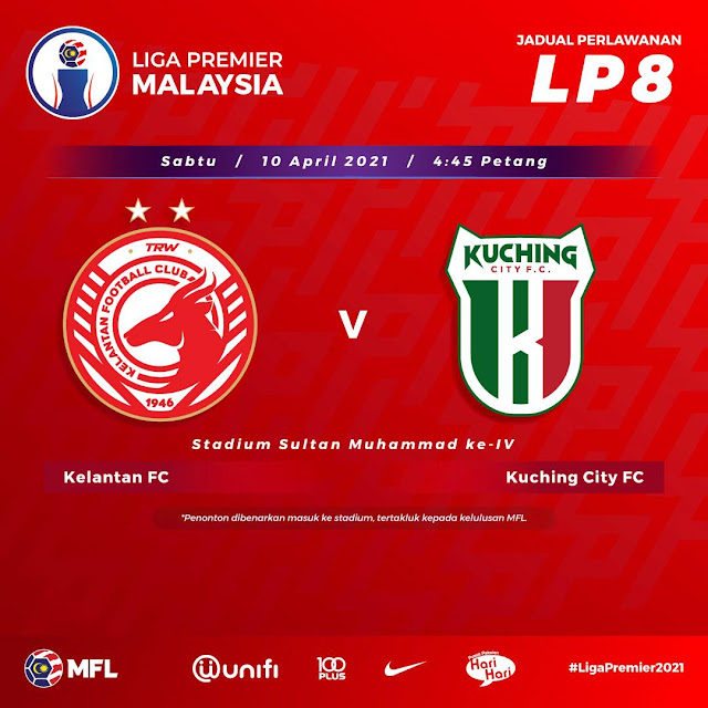 Live Streaming Kelantan vs Kuching FC Liga Perdana 10.4.2021