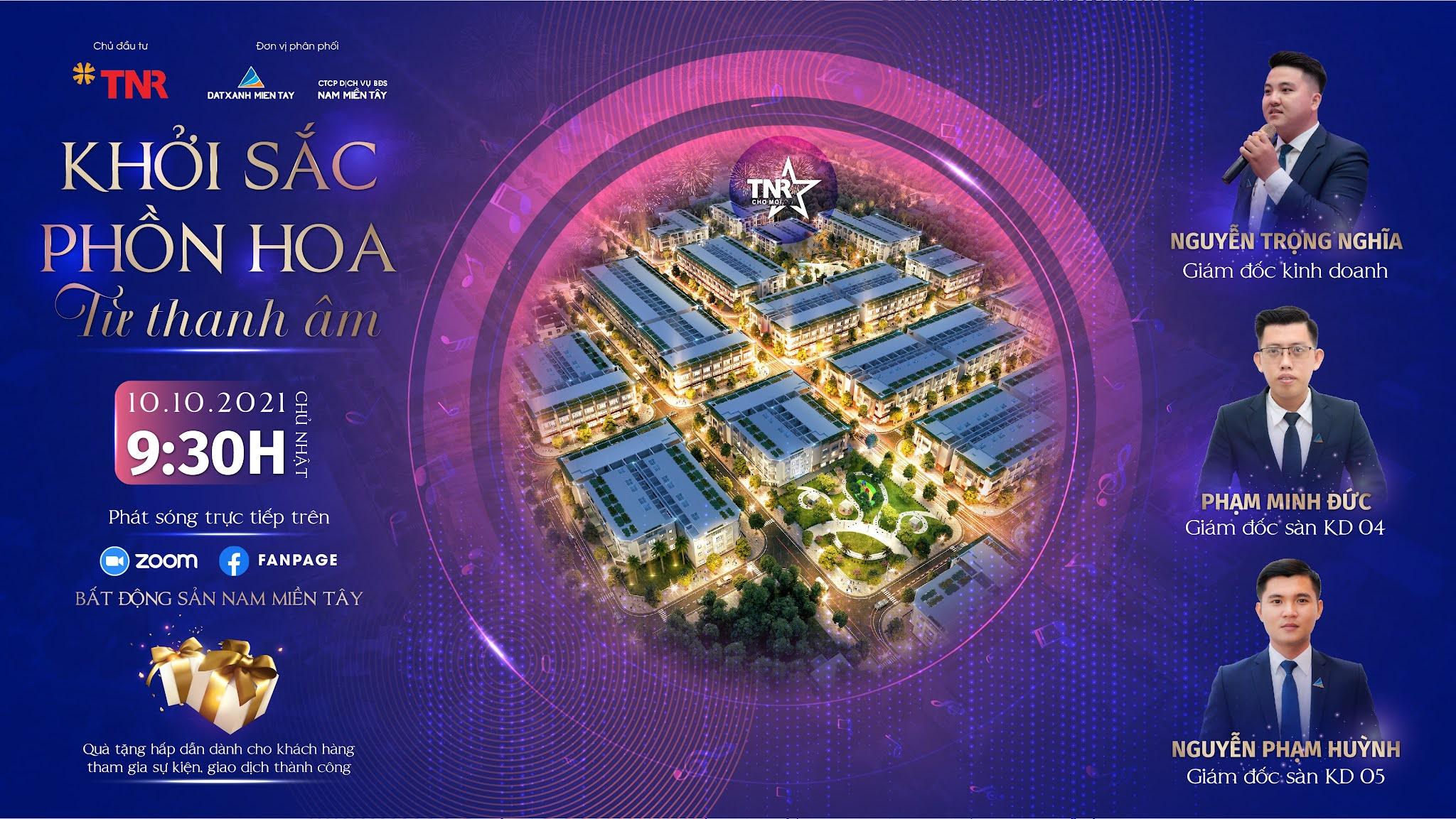 Sự kiện bất động sản trực tuyến TNR Stars Chợ Mới ngày 10/10/2021