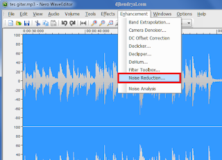 Buang noise pada audio di nero wave editor