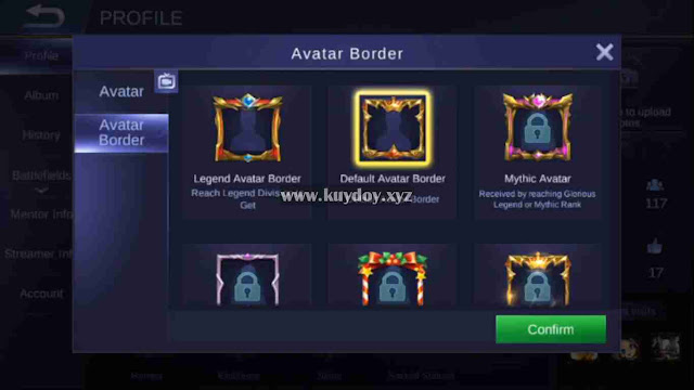 Script Border King's Crown Mobile Legends Gratis