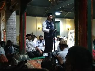 Ridwan Kamil Lakukan Takziah ke Keraton Kasepuhan ,Baginya Sultan Sepuh XIV PRA Arief Natadiningrat adalah sosok teladan