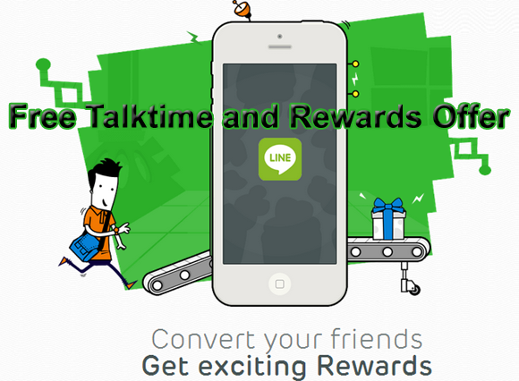 Line app offering free talktime and goodies via FriendConverted