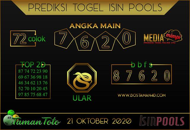 Prediksi Togel ISIN TAMAN TOTO 21 OKTOBER 2020