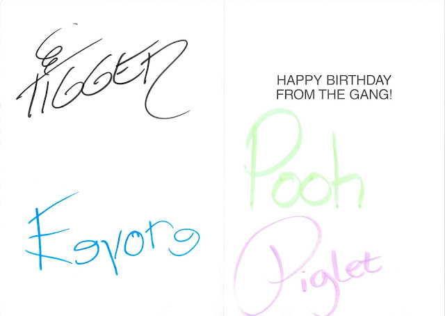 Happy Birthday From the Gang Disney Parks Card Pooh Autographs