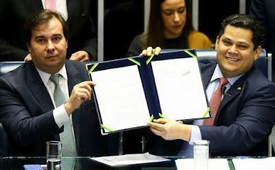 Rodrigo Maia e Davi Alcolumbre. Foto Agência Brasil. Café com Jornalista