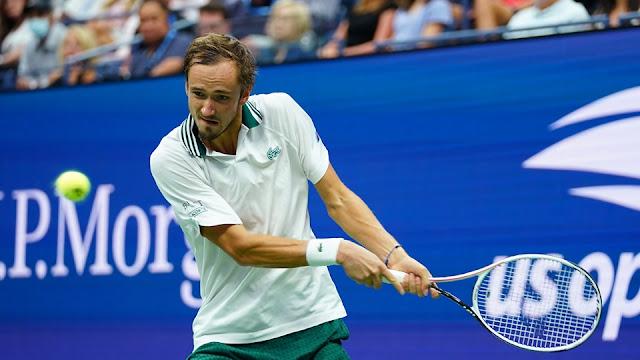 Daniil Medvedev em ação pelo US Open
