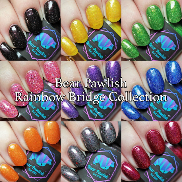 Bear Pawlish Rainbow Bridge Collection