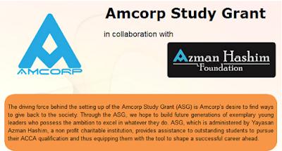 Borang permohonan Biasiswa Amcorp