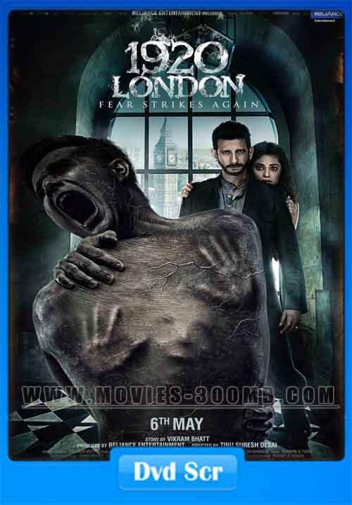 1920 London 2016 DVDScr 250MB Posterr