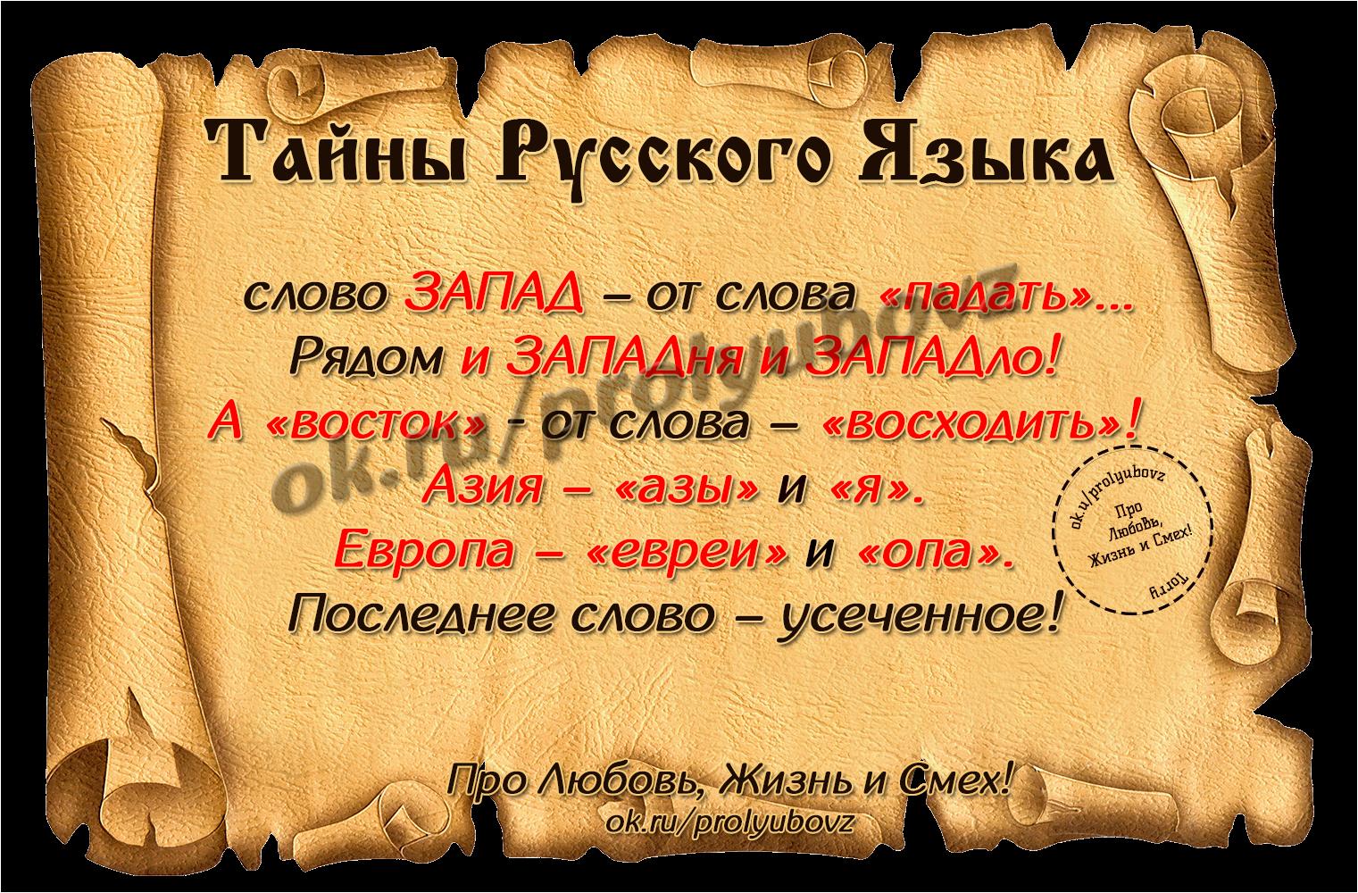 Открытка происхождение слова