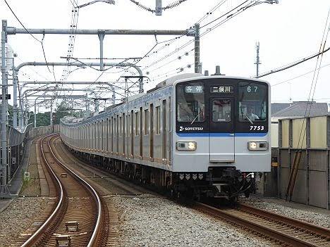 相模鉄道 各停 二俣川行き2 新7000系(2015.5.31ダイヤ改正で日中廃止)