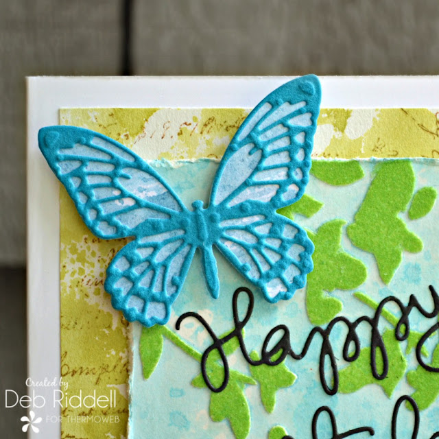Butterfly Birthday card closeup