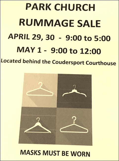 4-29/30/5-1 Park Church Rummage Sale