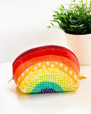 easy rainbow zipper pouch