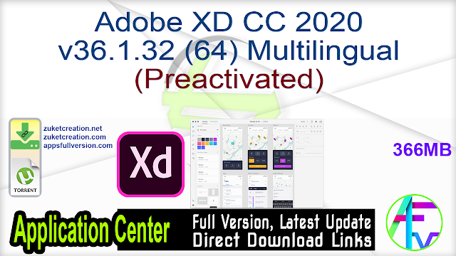 Adobe XD CC 2020 v36.1.32 (64) Multilingual (Preactivated)