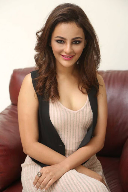 Seerat Kapoor Hot Pic At Touch Chesi Choodu Movie Interview