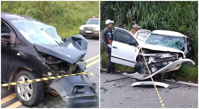 Colisão entre carros deixa um morto e cinco feridos em S. S. do Alto
