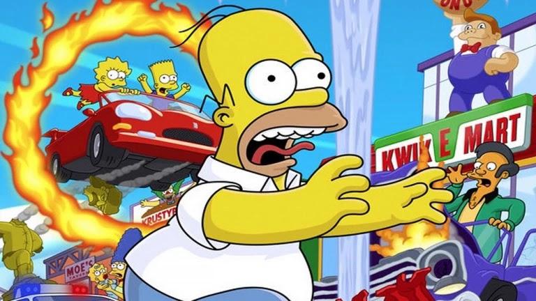 نتيجة بحث الصور عن لعبة The Simpsons: Hit & Run للبلايستيشن
