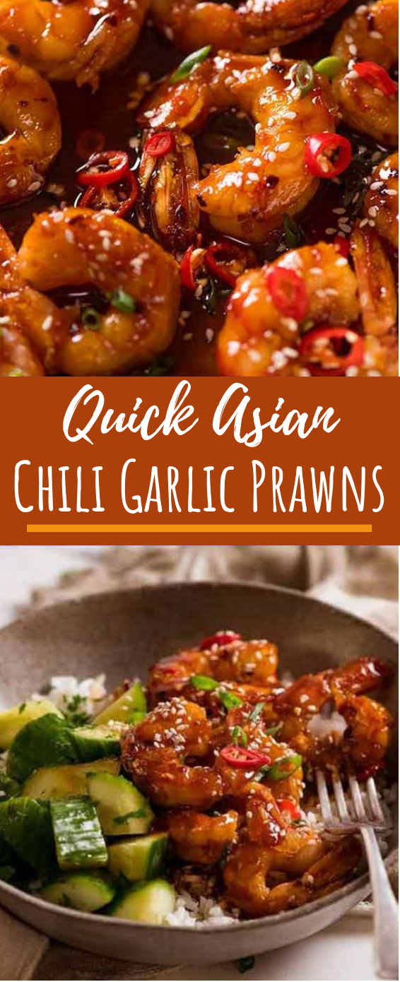 Asian Chilli Garlic Prawns #quick #dinner