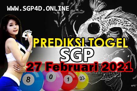Prediksi Togel SGP 27 Februari 2021