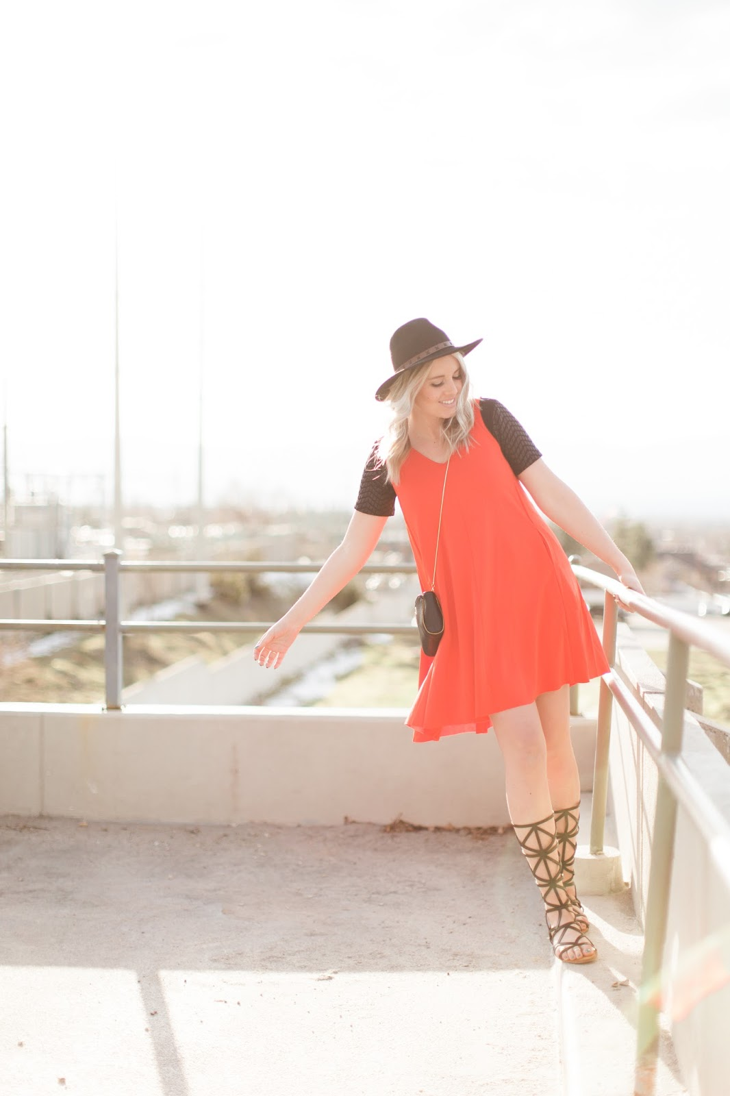 Spring Dress, Orange Dress, Utah Fashion Blogger