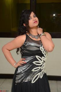 Shrisha Dasari in Sleeveless Short Black Dress At Follow Follow U Audio Launch 081.JPG