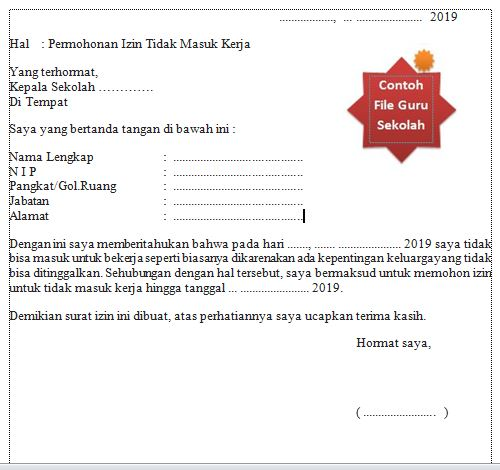 Itulah penjelasan singkat mengenai cara membuat surat izin tidak masuk sekolah beserta con Surat Izin Tidak Masuk Sekolah Sd Singkat