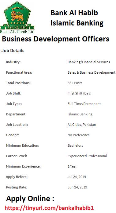 Bank Al Habib Careers 2019