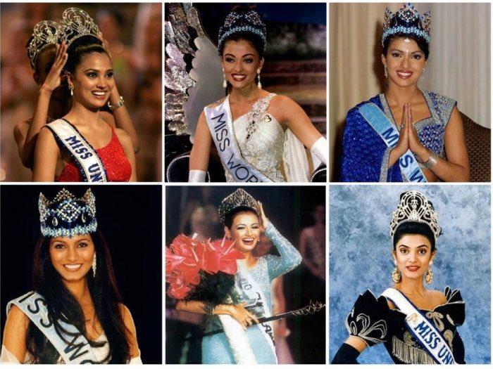 نجمات هنديات فزن بلقب ملكة جمال العالم