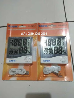 Darmatek Jual Sanfix TH-308A Termohygrometer with Clock