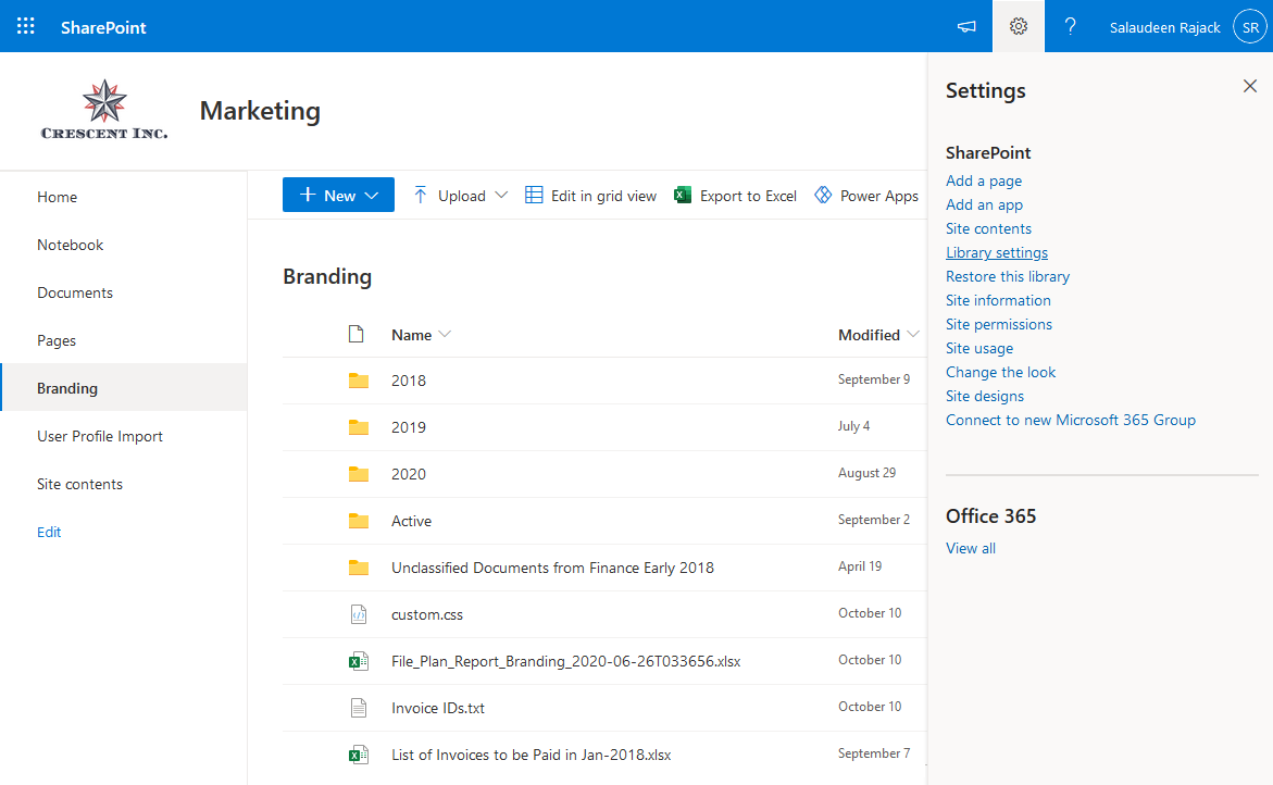 how to grant access to a document library in sharepoint online