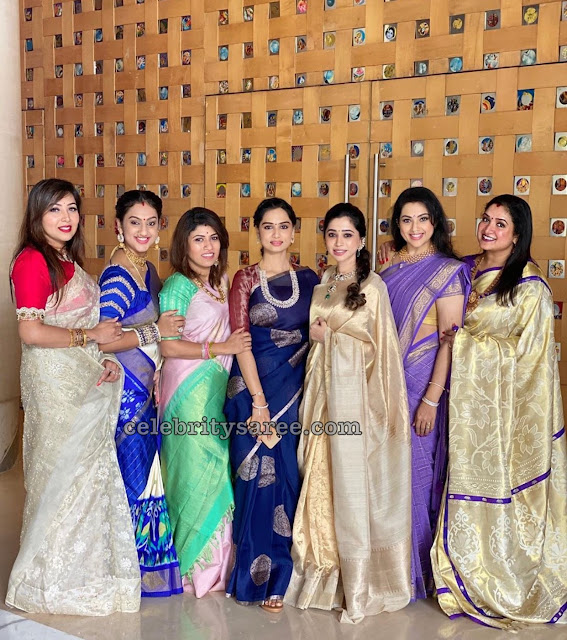 Prita Hari Aarthi Ravi and Meena Silk Saris