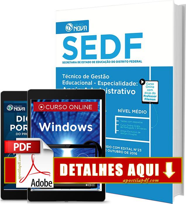 Apostila SEDF 2016 Apoio Administrativo Impressa