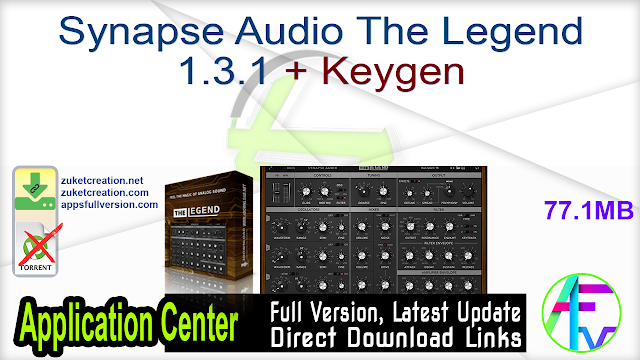 Synapse Audio The Legend 1.3.1 + Keygen