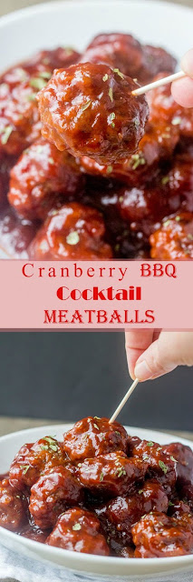 Cranberry BBQ Cocktail Meatballs